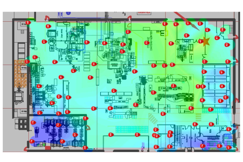 Plan d'Audit de couverture wifi réalisé par Illico Réseau